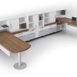 Cantilevered Surfaces with Modular Storage