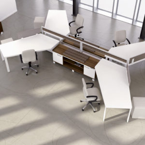 Air Workstations with Guest Seating