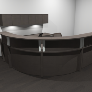 Project #9 - Corner Reception Desk with Wall Mounted Hutch