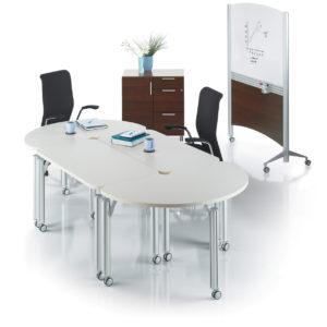 Modular Meeting Tables on Castors