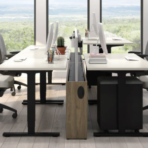 Height Adjustable Tables with Auxi Chairs