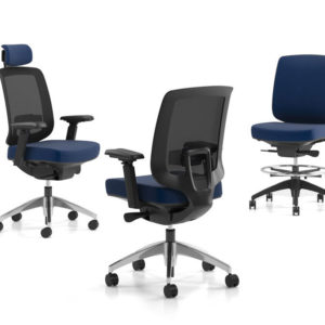 Auxi Task Chair with Adjustable Lumbar Support