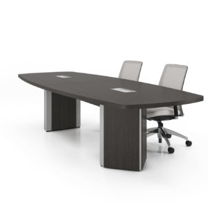 Boat-Shaped Boardroom Table with Architectural Bases